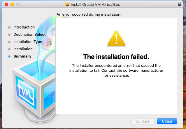 Installing VirtualBox on MacOS via VNC - just use a real mouse
